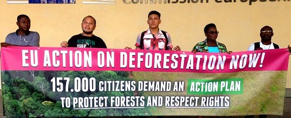Petition in Brussels against deforestation