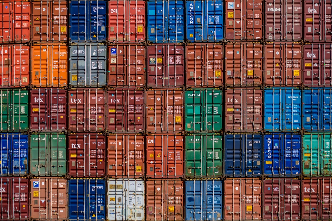 Shipping container stack